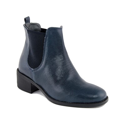 Eje LIZARD BOTTINES EN CUIR BLEU Chaussure France_v11494
