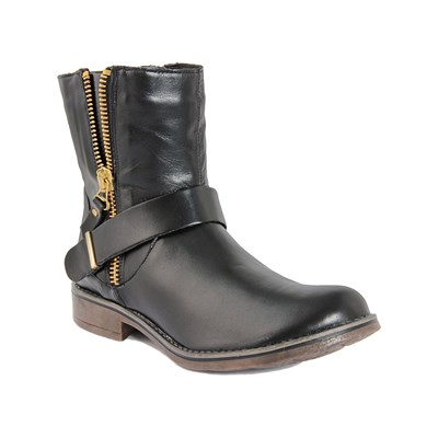 Eje BOTTINES EN CUIR NOIR
