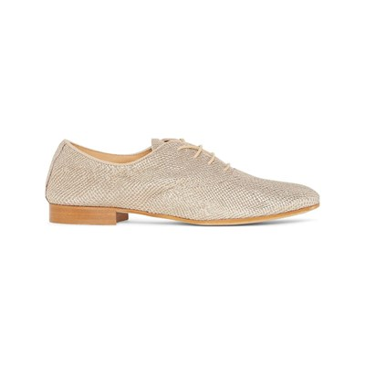 Monoprix DERBIES EN CUIR BEIGE Chaussure France_v10290