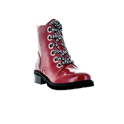 Cuir Lindia 2952068 Rouge Steve En Bottines Madden Synthétique w5qx6nI