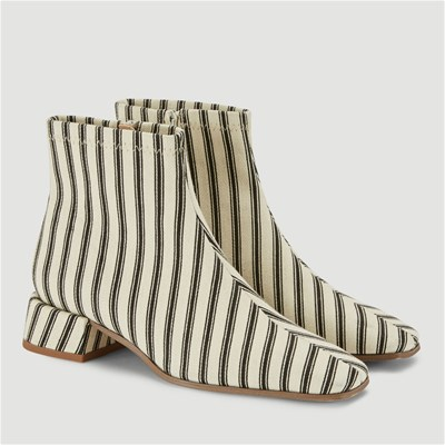 Monoprix Multicolore 2952245 Bout Synthétique Carré Boots TRqrtBT