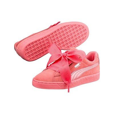 Puma HEART BASKETS EN CUIR ROSE Chaussure France_v2981