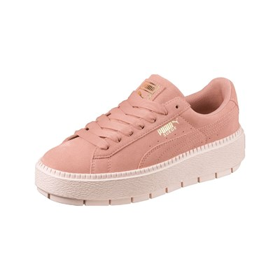 Puma TRACE BASKETS EN CUIR ROSE Chaussure France_v6121
