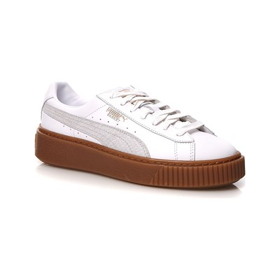 Puma BASKETS EN CUIR BLANC Chaussure France_v8452