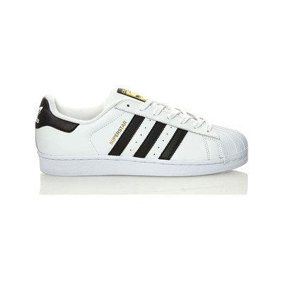 adidas Originals SUPERSTAR SNACKERS IN PELLE BIMATERIALE BIANCO