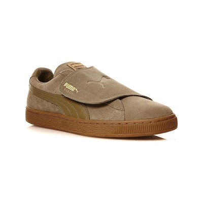 Puma BASKETS EN CUIR MARRON Chaussure France_v6688