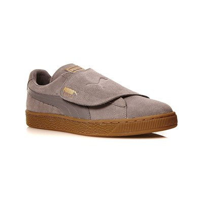 Puma BASKETS EN CUIR GRIS Chaussure France_v6687