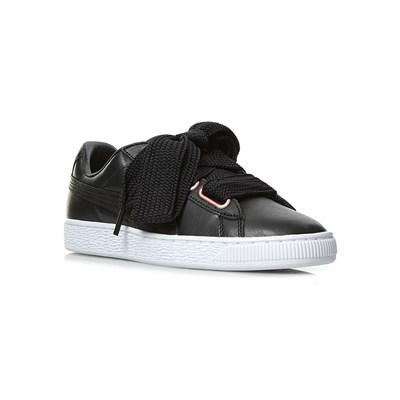 fornitura Puma SUEDE HEART LEATHER SNEAKERS IN PELLE NERO
