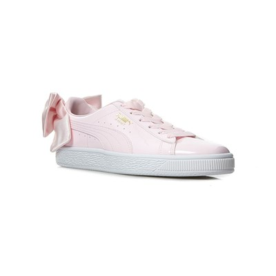 Puma WN SUEDE BOW PATENT LOW SNEAKERS ROSA
