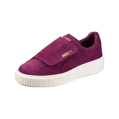 Puma BASKETS EN CUIR VIOLET Chaussure France_v9520