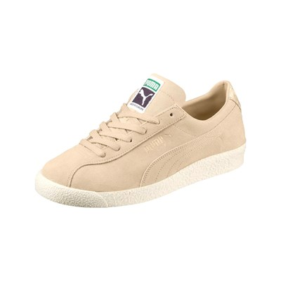 Puma BASKETS EN CUIR BEIGE Chaussure France_v4296