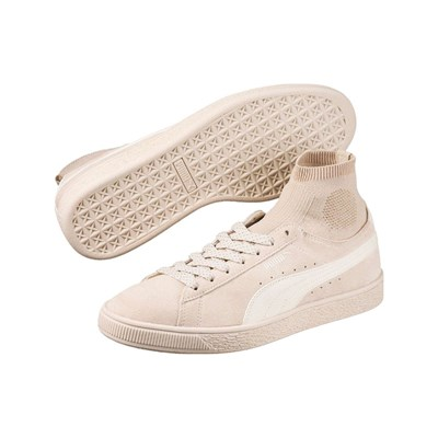 Puma SUEDE CLASSIC SOCK BASKETS EN CUIR ROSE