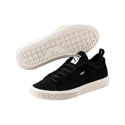 Puma BREAKER KNIT SUNFADED LEDERSNEAKERS SCHWARZ