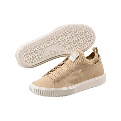 Beige 2830774 Sunfaded Knit En Puma Breaker Cuir Baskets Caoutchouc xwP8Fn