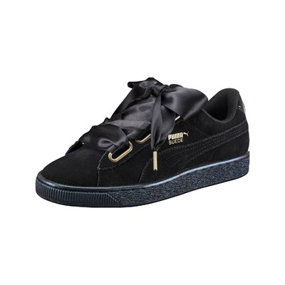 Puma HEART SNEAKERS IN PELLE SCAMOSCIATA NERO