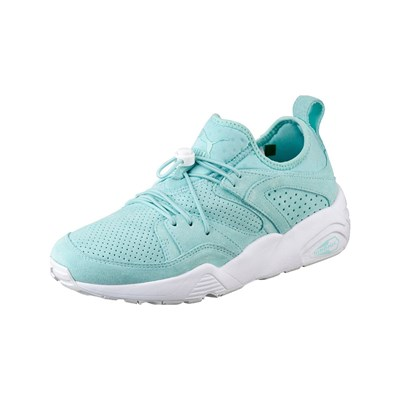 Puma BLAZE OF GLORY SOFT SNEAKERS EN CUIR TURQUOISE Chaussure France_v8457