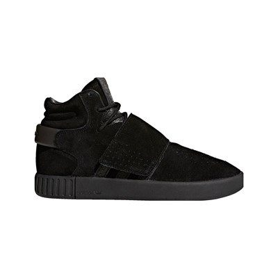 adidas Originals TUBULAR INVADER STRAP SNEAKERS ALTE IN PELLE NERO