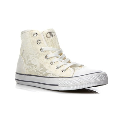 affordabl Champion SNEAKERS ALTE IN PIZZO BIANCO