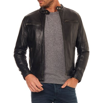 Diversion AARON GIACCA IN PELLE NERO