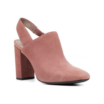 Geox D NEW SYMPHONY HIGH MULES EN CUIR VIEUX ROSE Chaussure France_v5756