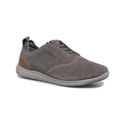 Geox XUNDAY SNEAKERS AUS LEDER ANTHRAZIT