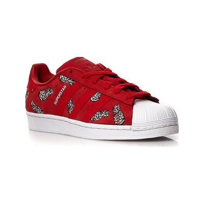W En Rouge Cuir Caoutchouc Baskets Adidas Superstar 2846789 Originals zWYnF11ax