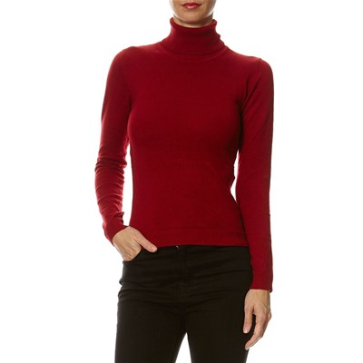 William De Faye MAGLIA IN MISTO CASHMERE BORDEAUX
