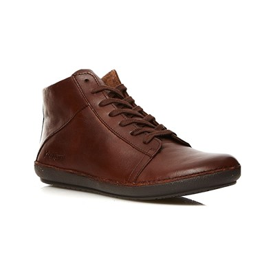 Kickers FOWNO SNEAKERS ALTE IN PELLE CAMMELLO