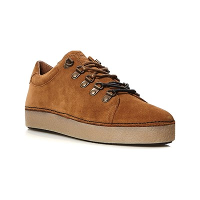 Kickers SPRITE BASKETS EN CUIR CAMEL Chaussure France_v6199