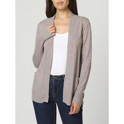 William De Faye CARDIGAN IN MISTO CASHMERE E SETA BEIGE