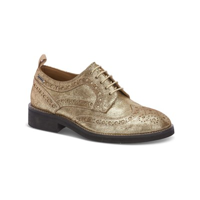 Chaussures Femme | Pepe Jeans Footwear HACKNEY DERBIES EN CUIR OR