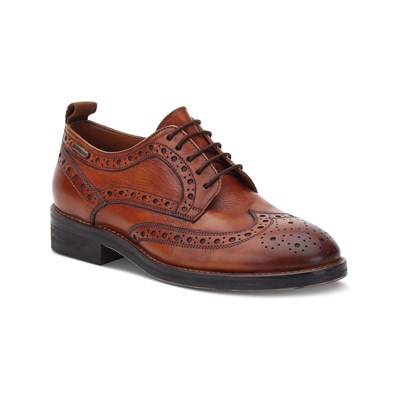 Chaussures Femme | Pepe Jeans Footwear HACKNEY DERBIES EN CUIR MARRON
