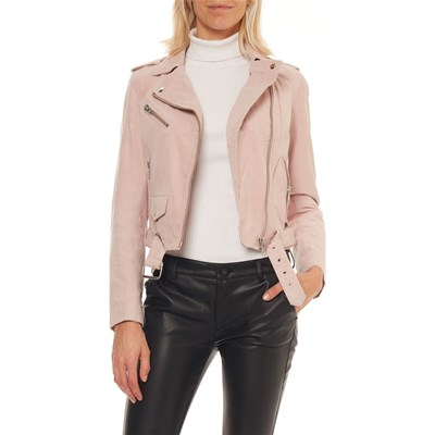On you GIACCA IN PELLE ROSA CHIARO