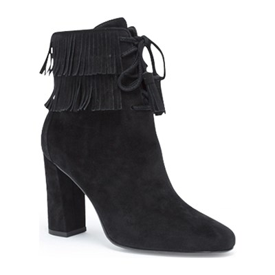 What For BOTTINES EN CUIR NOIR Chaussure France_v10469
