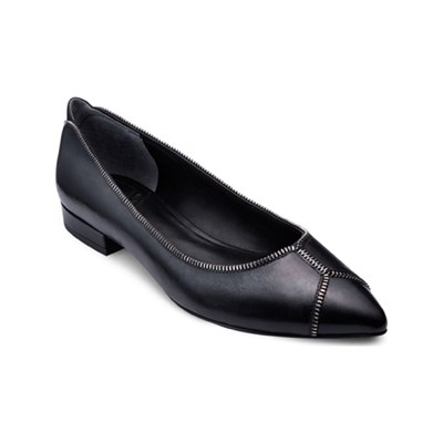 What For ALSINA BALLERINES EN CUIR NOIR Chaussure France_v9358