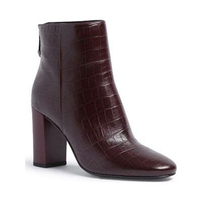 What For BOTTINES EN CUIR BORDEAUX Chaussure France_v9766