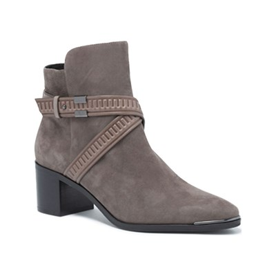What For BOTTINES EN CUIR TAUPE Chaussure France_v8686