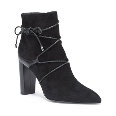What For BOTTINES EN CUIR NOIR Chaussure France_v7359