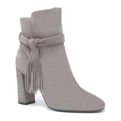 What For BOTTINES EN CUIR GRIS CLAIR Chaussure France_v10468