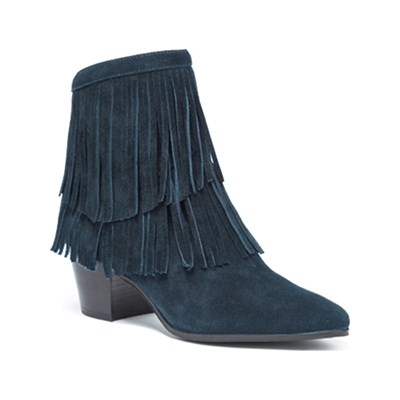 What For SPLIT LEDERBOOTS MARINEBLAU