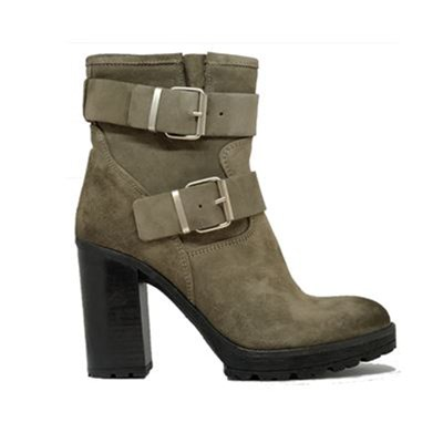 Ann Tuil KADOR BOTTINES EN CUIR KAKI Chaussure France_v17981