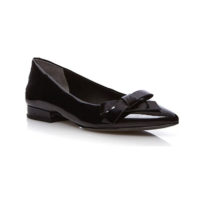 What For BALLERINES EN CUIR NOIR Chaussure France_v5887