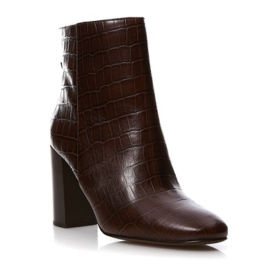 What For BOTTINES EN CUIR MARRON