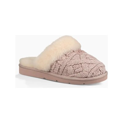 Ugg COZY CABLE CHAUSSONS ROSE Chaussure France_v9357