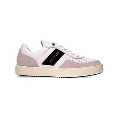 Tommy Hilfiger BASKETS EN CUIR BLANC Chaussure France_v11011