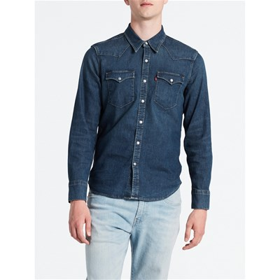 Levi's BARSTOW CAMICIA IN JEANS BLU