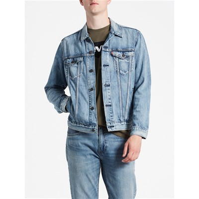 Levi's THE TRUCKER GIACCA IN JEANS BLU
