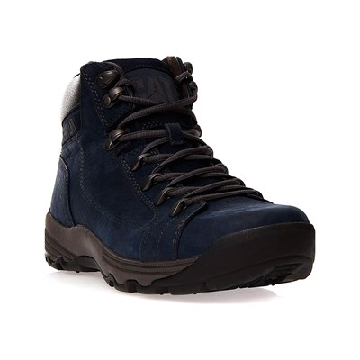 Caterpillar SUPERSEDE BOOTS EN CUIR BLEU MARINE Chaussure France_v6122