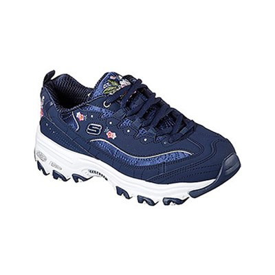 Skechers D'LITES BASKETS BASSES BLEU Chaussure France_v5157