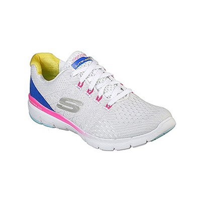 Skechers FLEX BASKETS BASSES BLANC Chaussure France_v3650